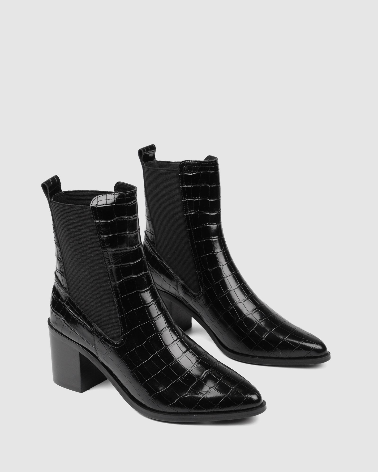 ACE MID ANKLE BOOTS BLACK CROC
