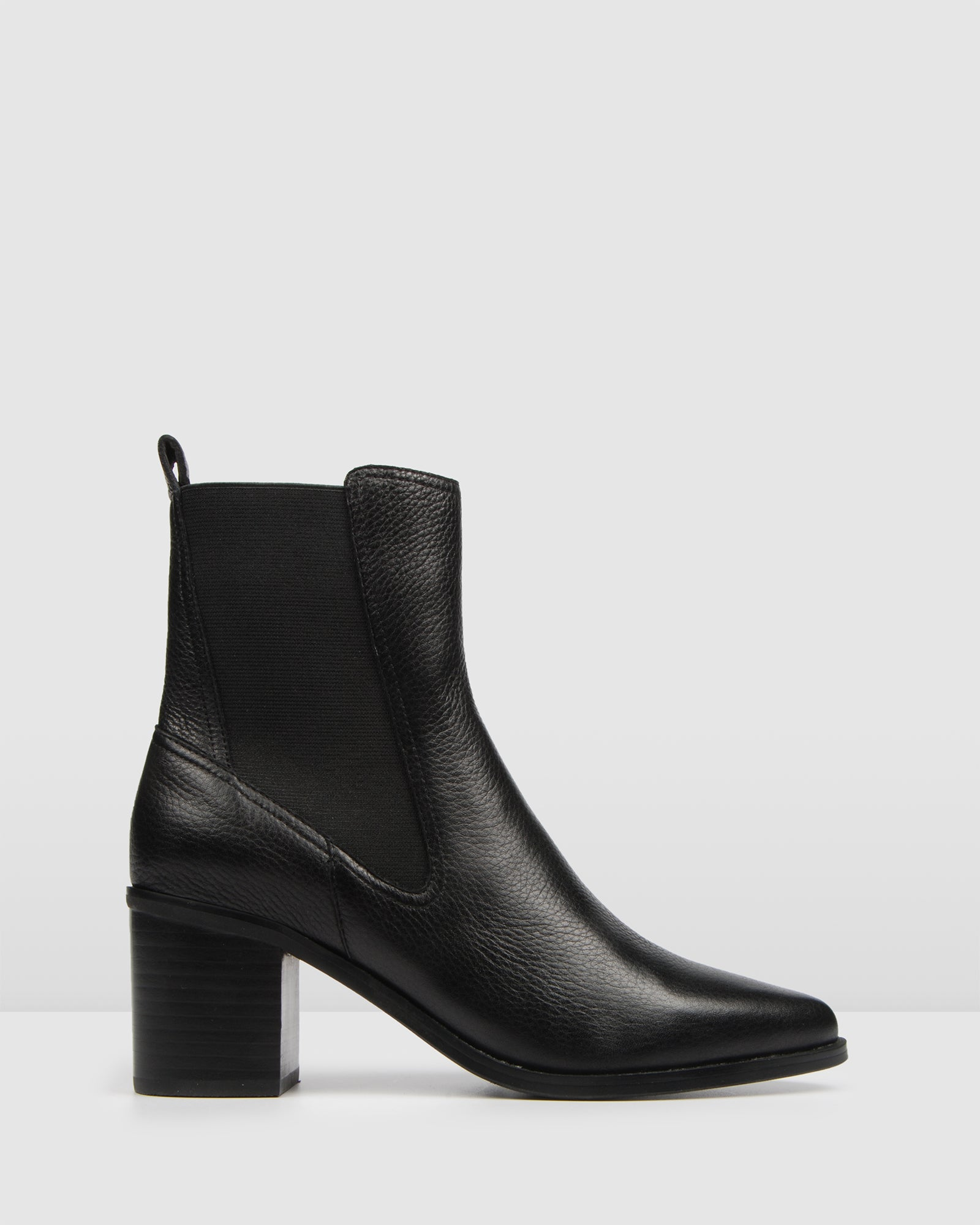 ACE MID ANKLE BOOTS BLACK LEATHER - Jo