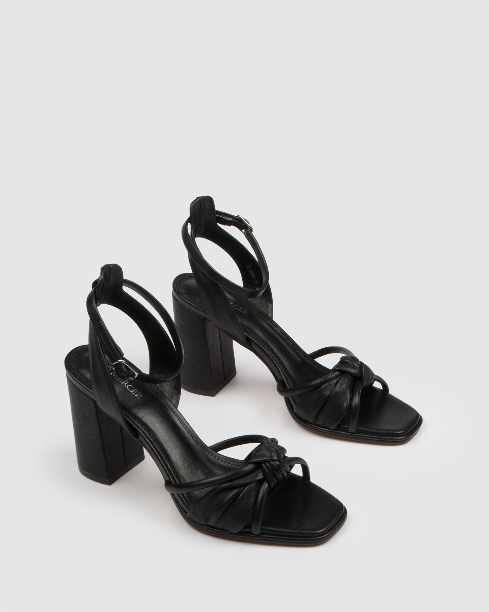 ADIA HIGH SANDALS BLACK LEATHER
