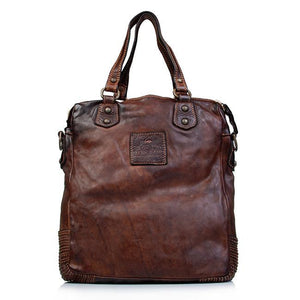 CAMPOMAGGI ALBERTA LEATHER SHOULDER BAG COGNAC LEATHER
