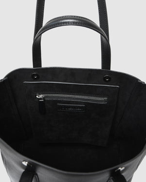 ALESSA TOTE BAG BLACK LEATHER