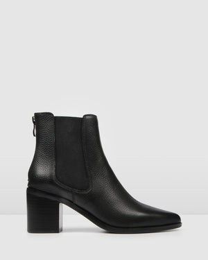 ALLURE MID ANKLE BOOTS BLACK LEATHER