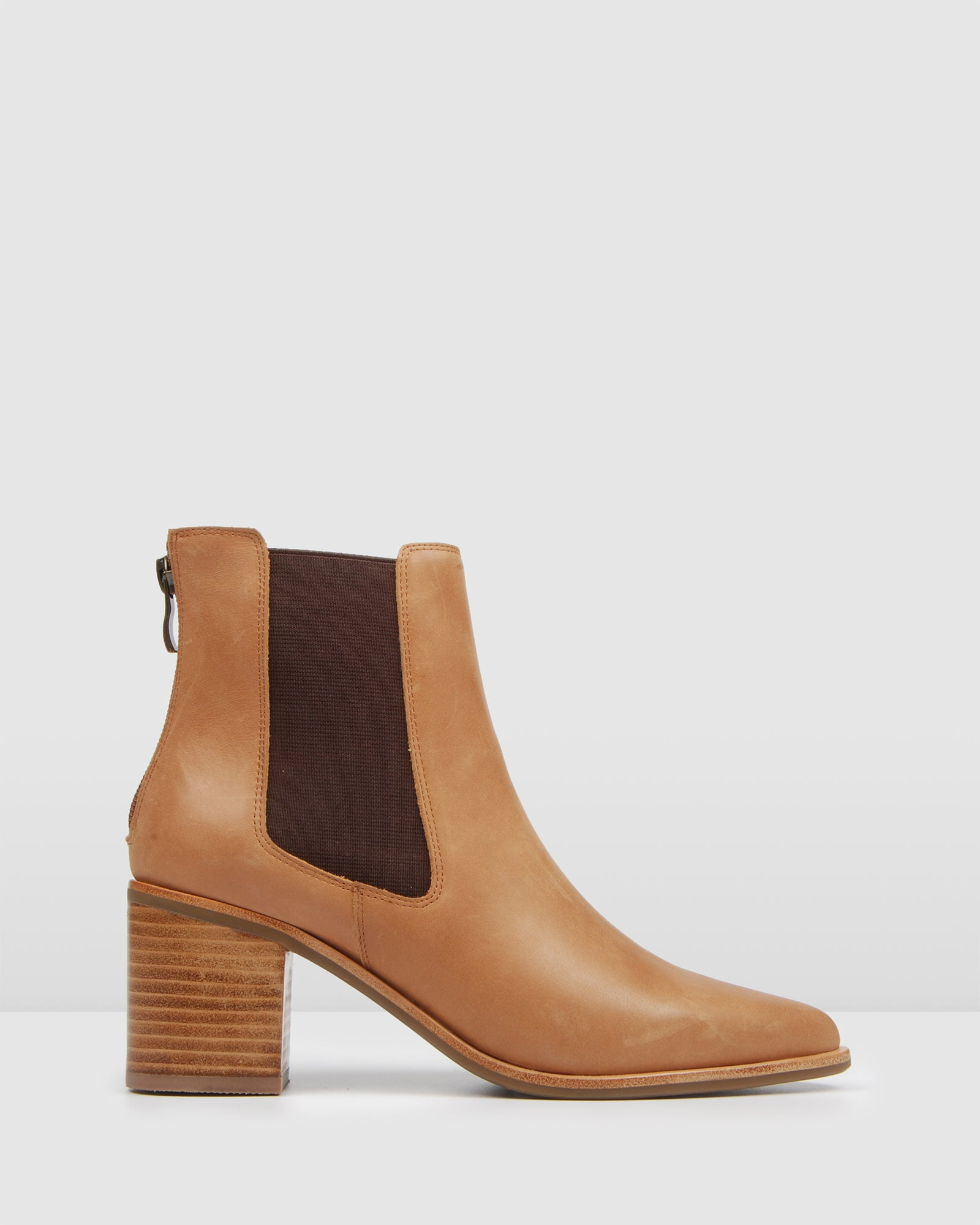 ALLURE MID ANKLE BOOTS CHOCOLATE LEATHER