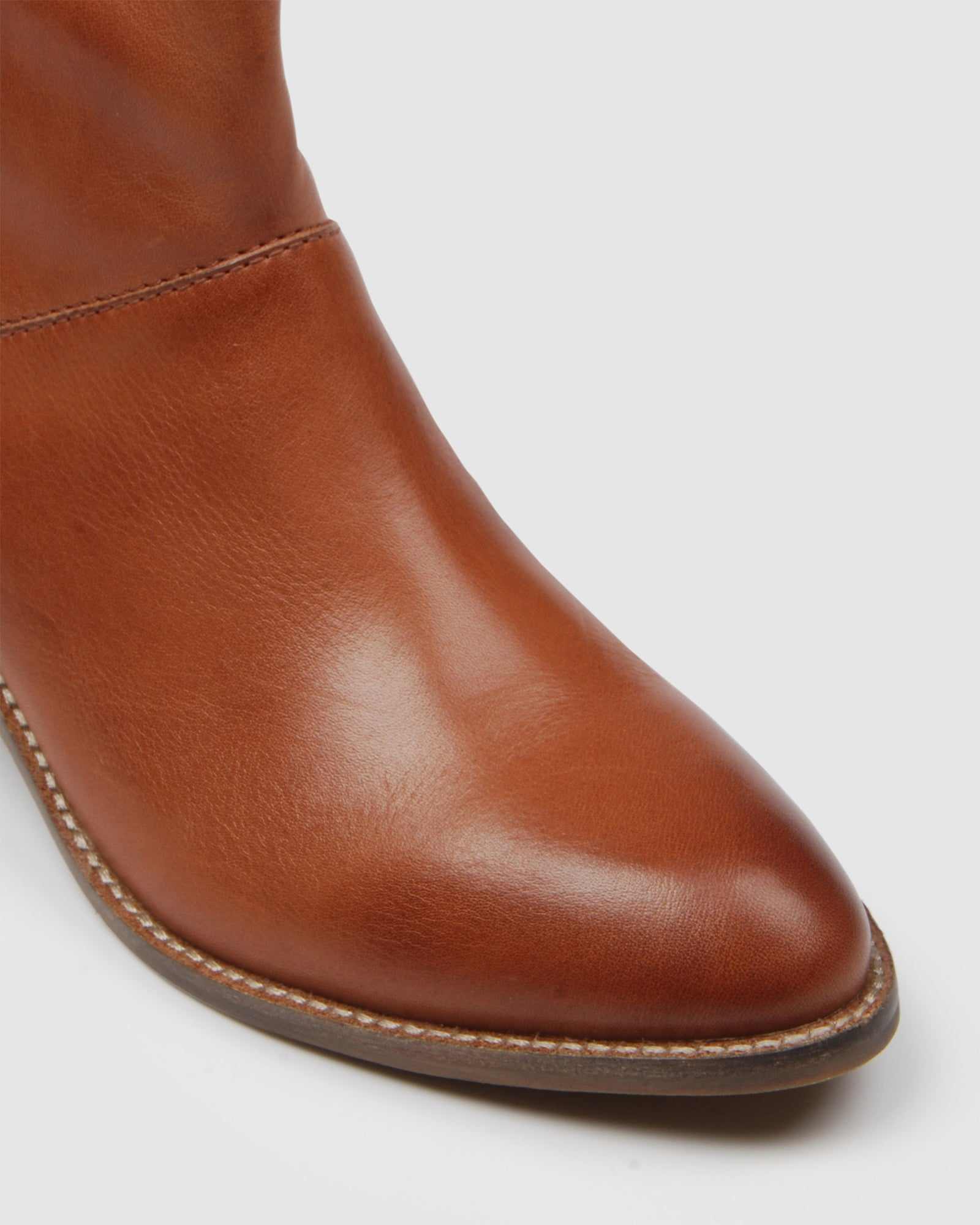 AMAX MID CALF BOOTS COGNAC LEATHER