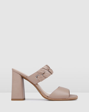 AMELIA HIGH HEEL SANDALS BEIGE LEATHER