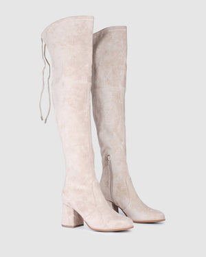AVALON OVER THE KNEE BOOTS SAND