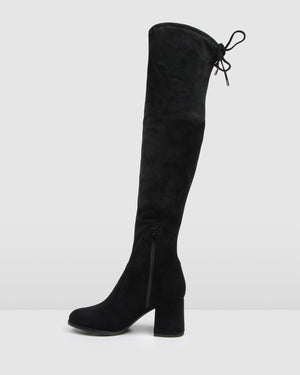 AVALON OVER THE KNEE BOOT BLACK