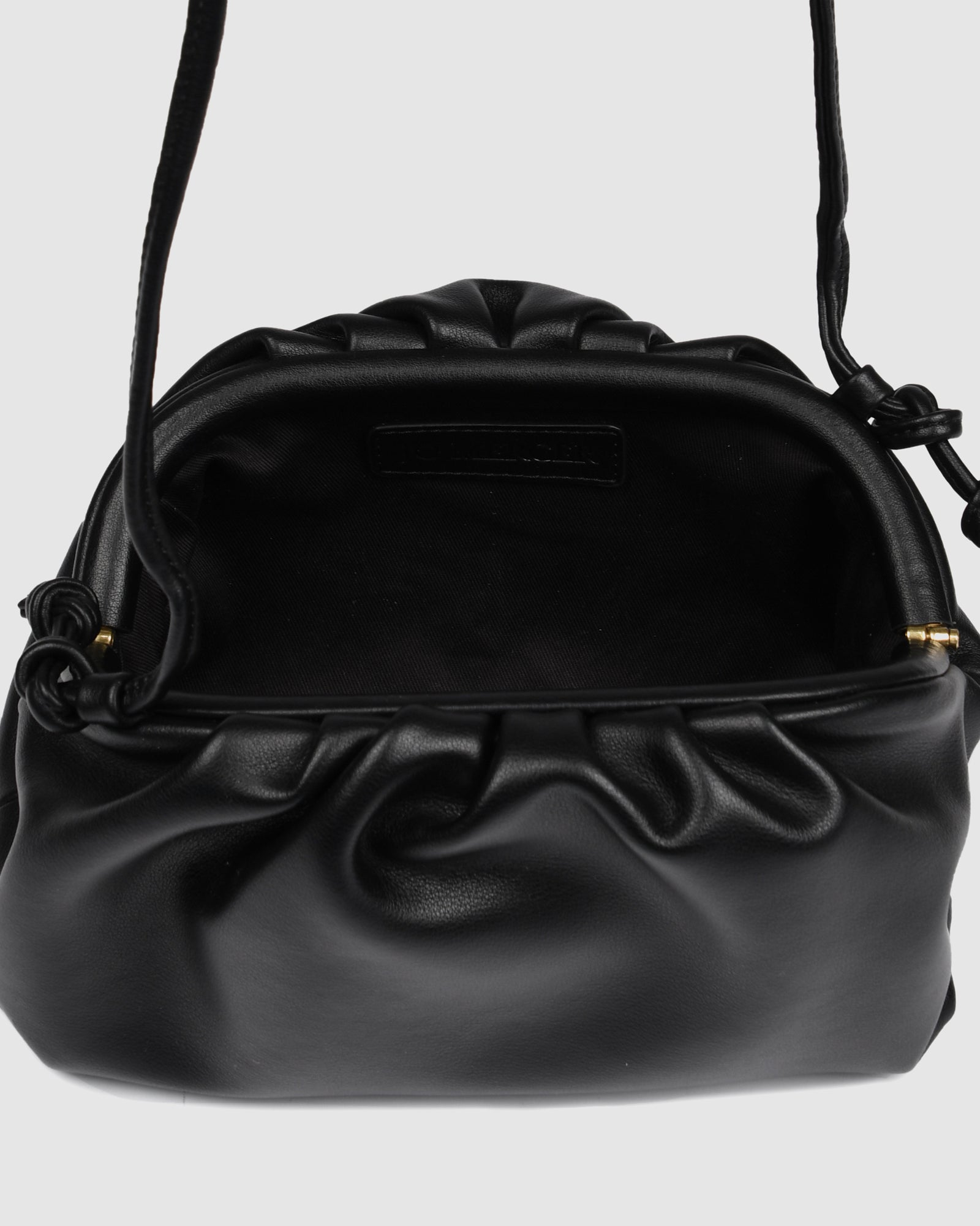 BAMBIE CROSS BODY BAG BLACK LEATHER