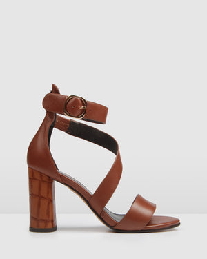 BECKETT HIGH SANDALS TAN LEATHER