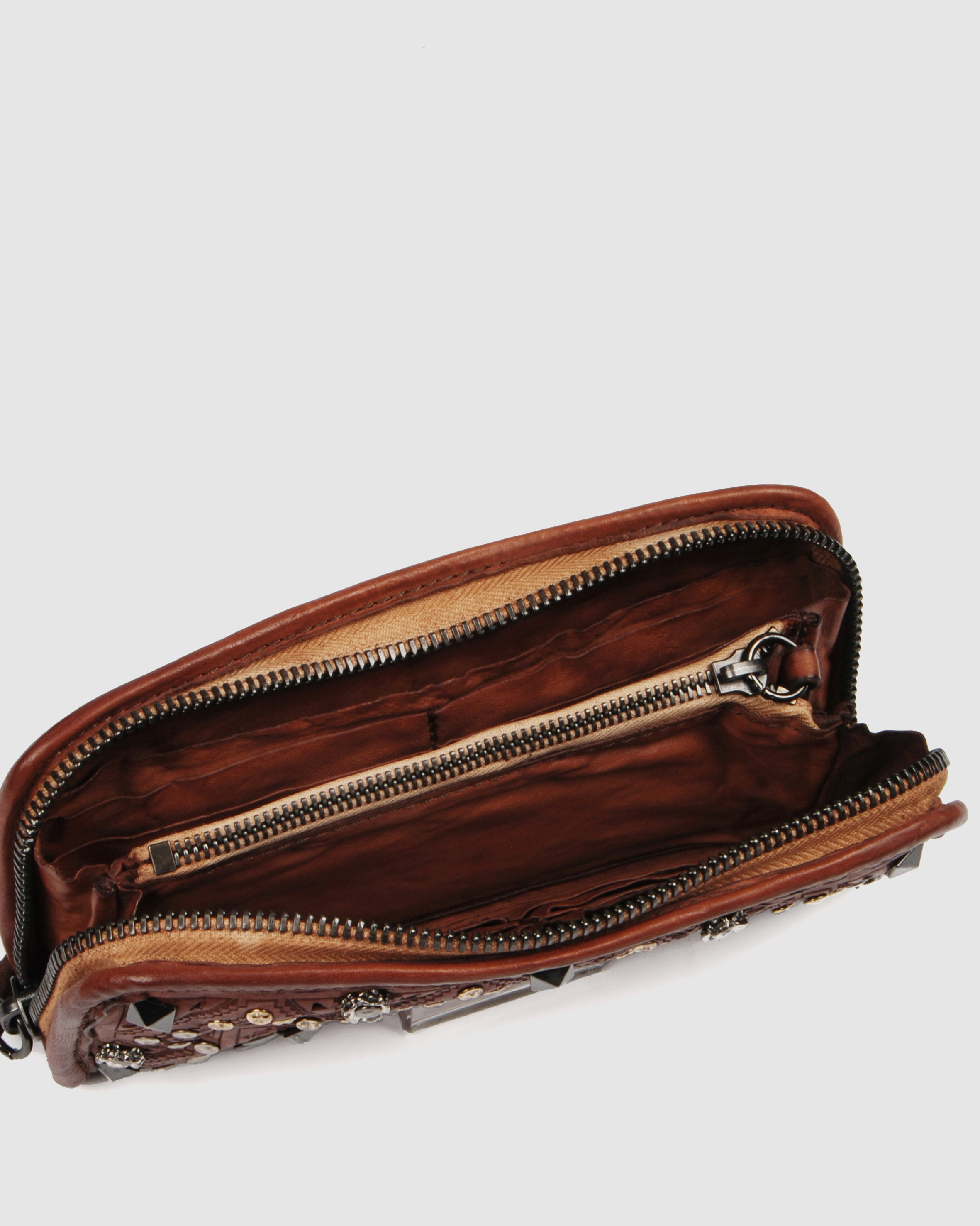 CAMPOMAGGI BEECHWOOD WALLET COGNAC LEATHER