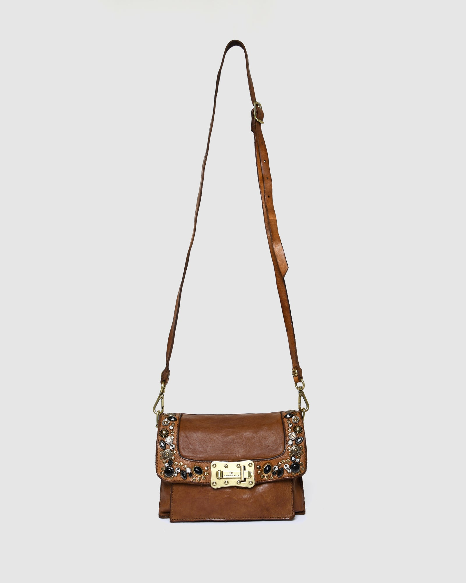 CAMPOMAGGI BELLA DI NOTTE CROSS BODY BAG COGNAC LEATHER