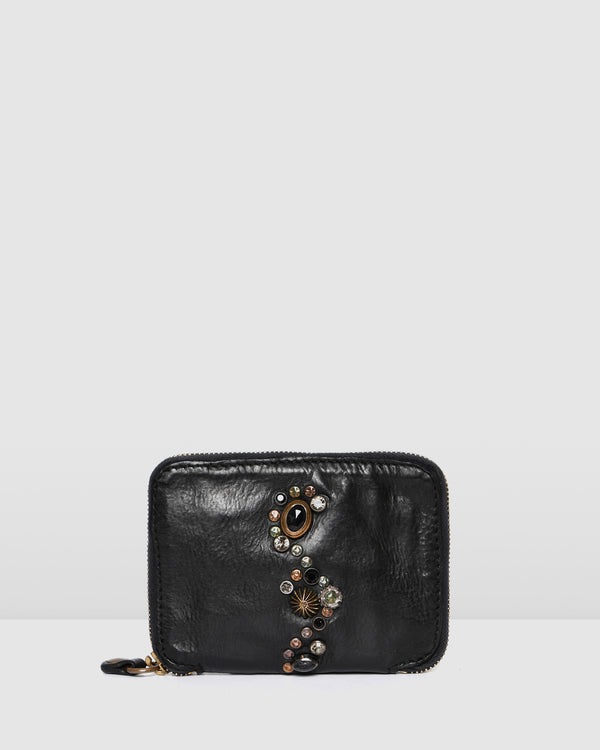 CAMPOMAGGI BELLA DI NOTTE WALLET BLACK LEATHER