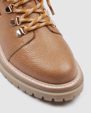 BENTLEY LOW ANKLE BOOTS TAN LEATHER