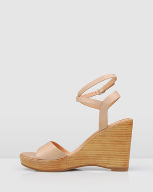 BERTO HIGH WEDGE SANDALS