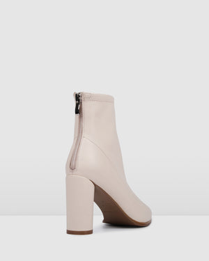 BETTINA HIGH ANKLE BOOTS BONE LEATHER