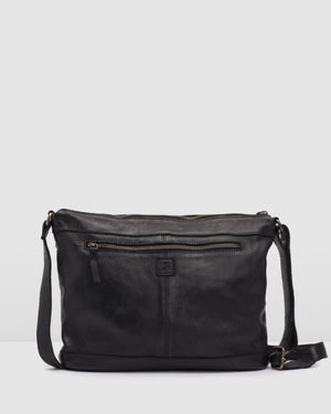 BIBA BALTIC CROSS BODY BAG BLACK LEATHER