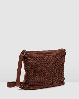 BIBA BALTIC CROSS BODY BAG TAN LEATHER