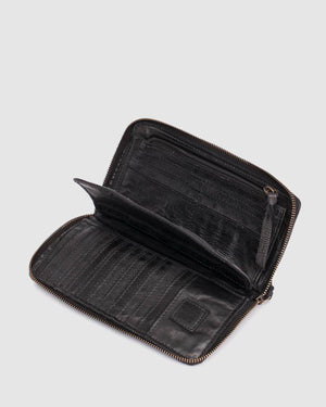 BIBA BALTIC WALLET BLACK LEATHER
