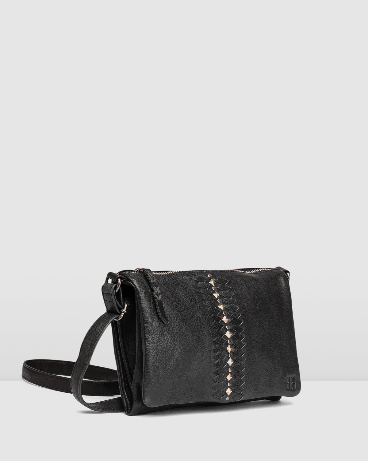 BIBA NASHVILLE ROCK CROSS BODY BAG BLACK LEATHER