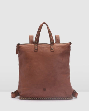 BIBA PORTLAND BACKPACK TAN LEATHER