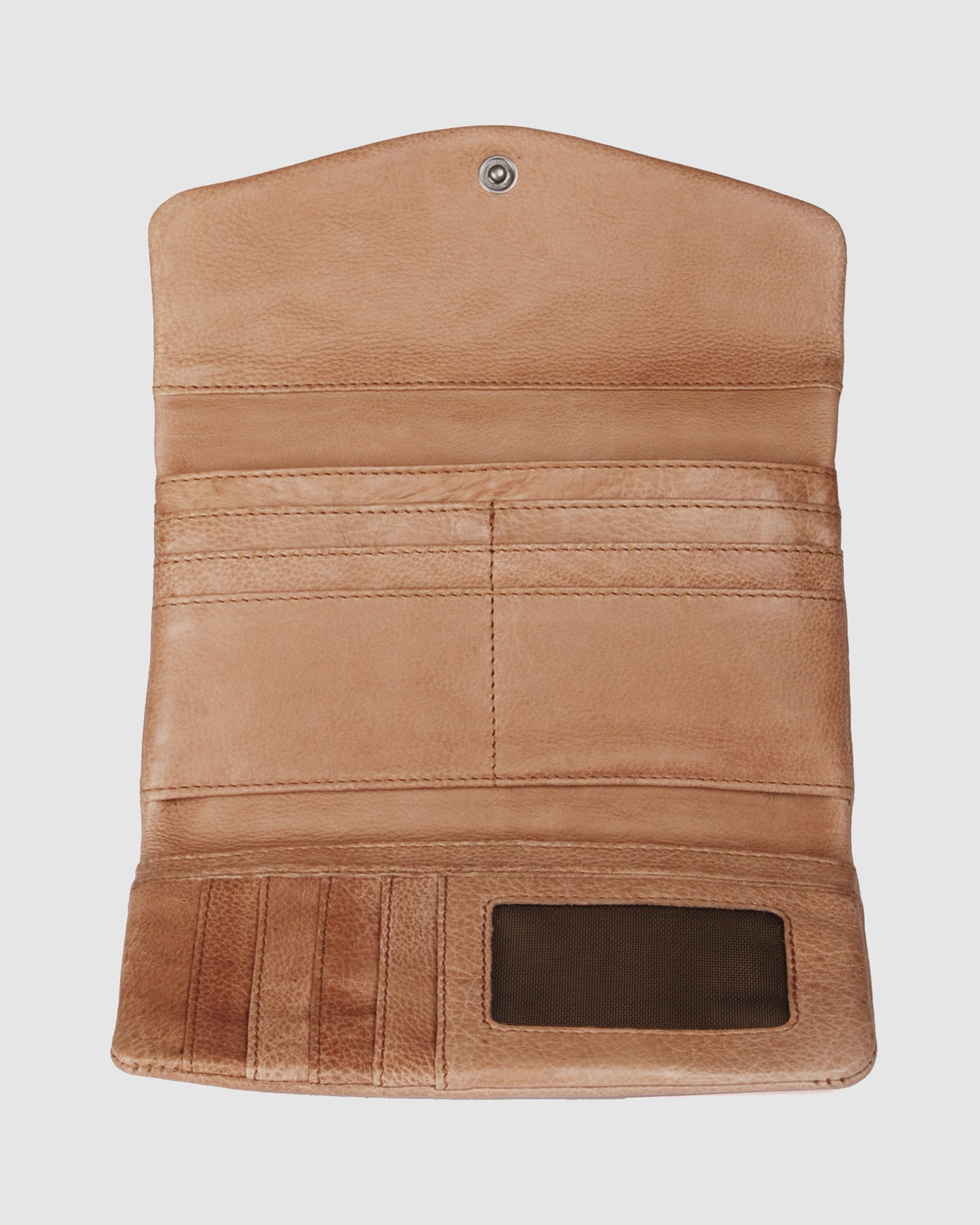 BIBA JERSEY SUMMER WALLET TAN LEATHER