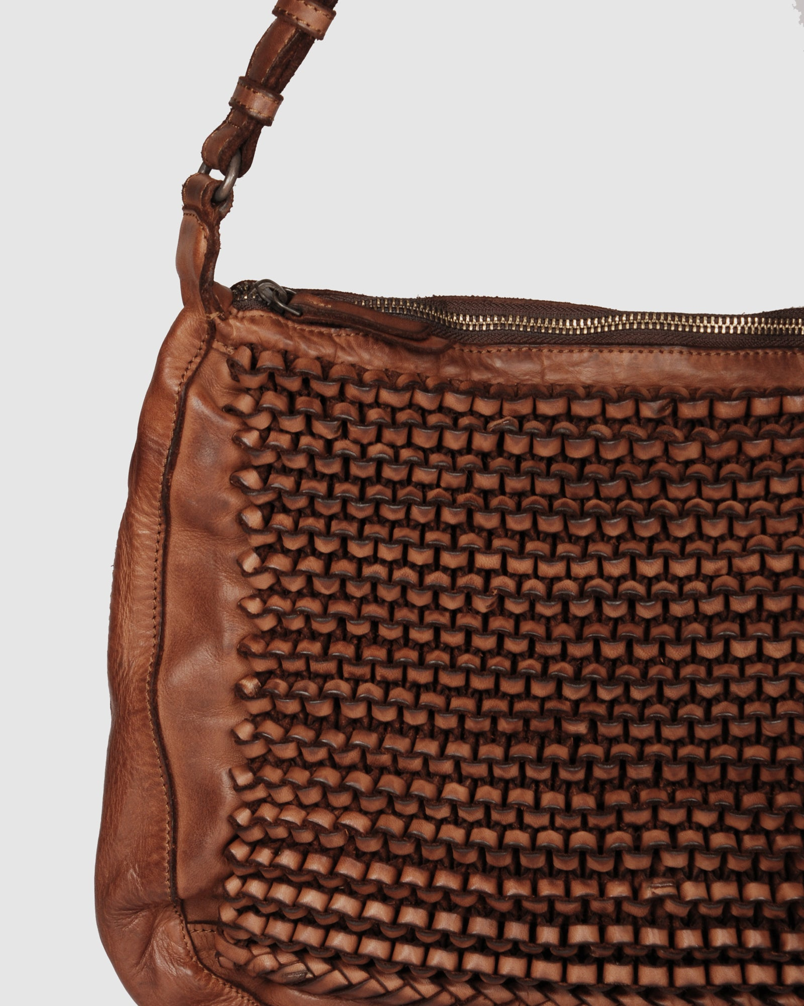 BIBA MISSOURI CROSS BODY BAG TAN LEATHER
