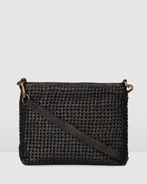 BIBA NIWOT CROSS BODY BAG BLACK LEATHER
