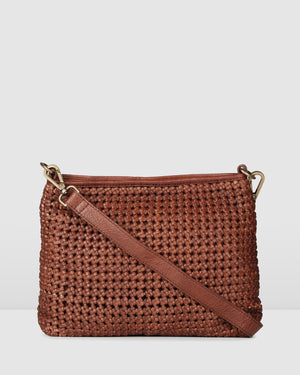 BIBA NIWOT CROSS BODY BAG TAN LEATHER