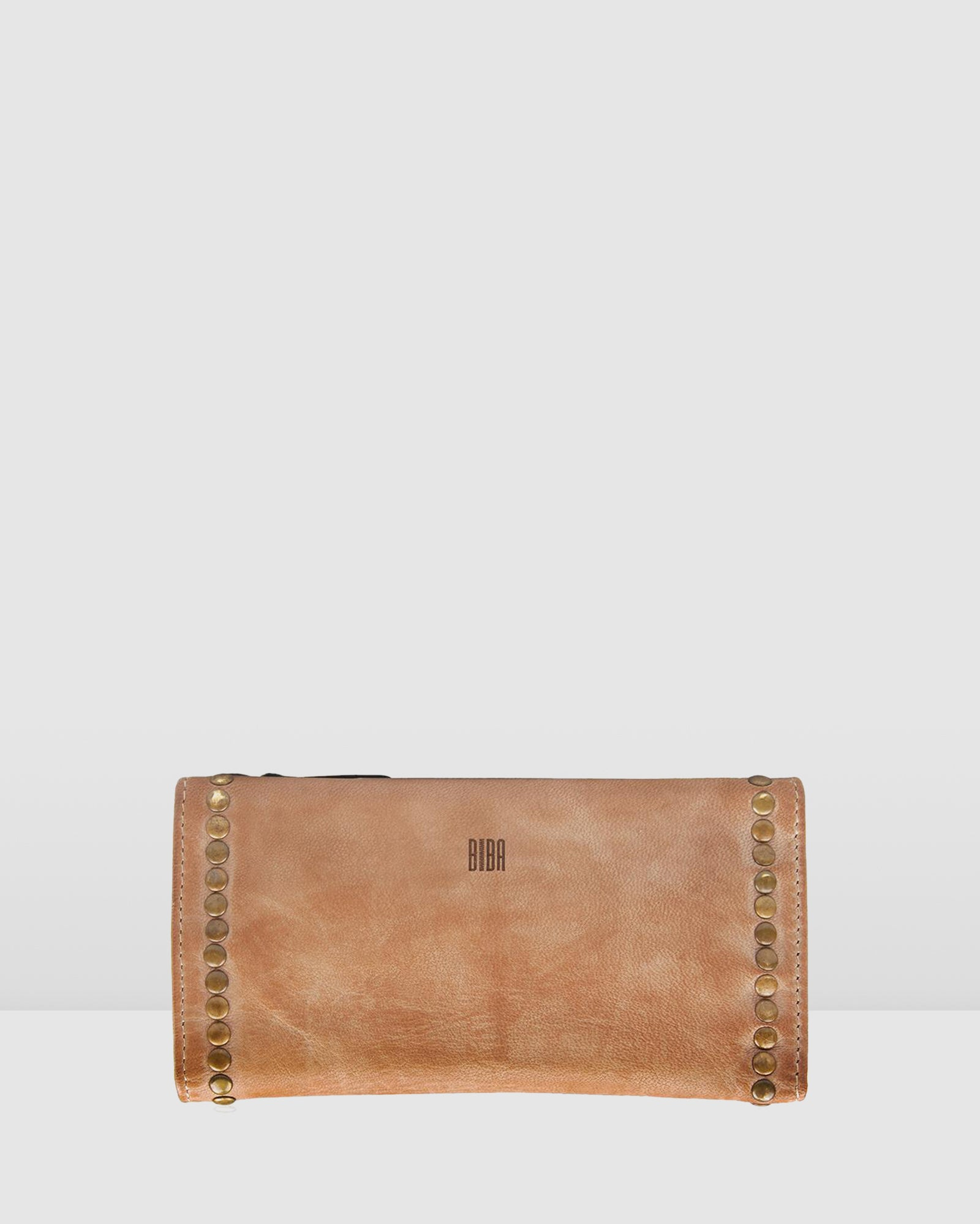 BIBA PORTLAND WALLET TAUPE LEATHER