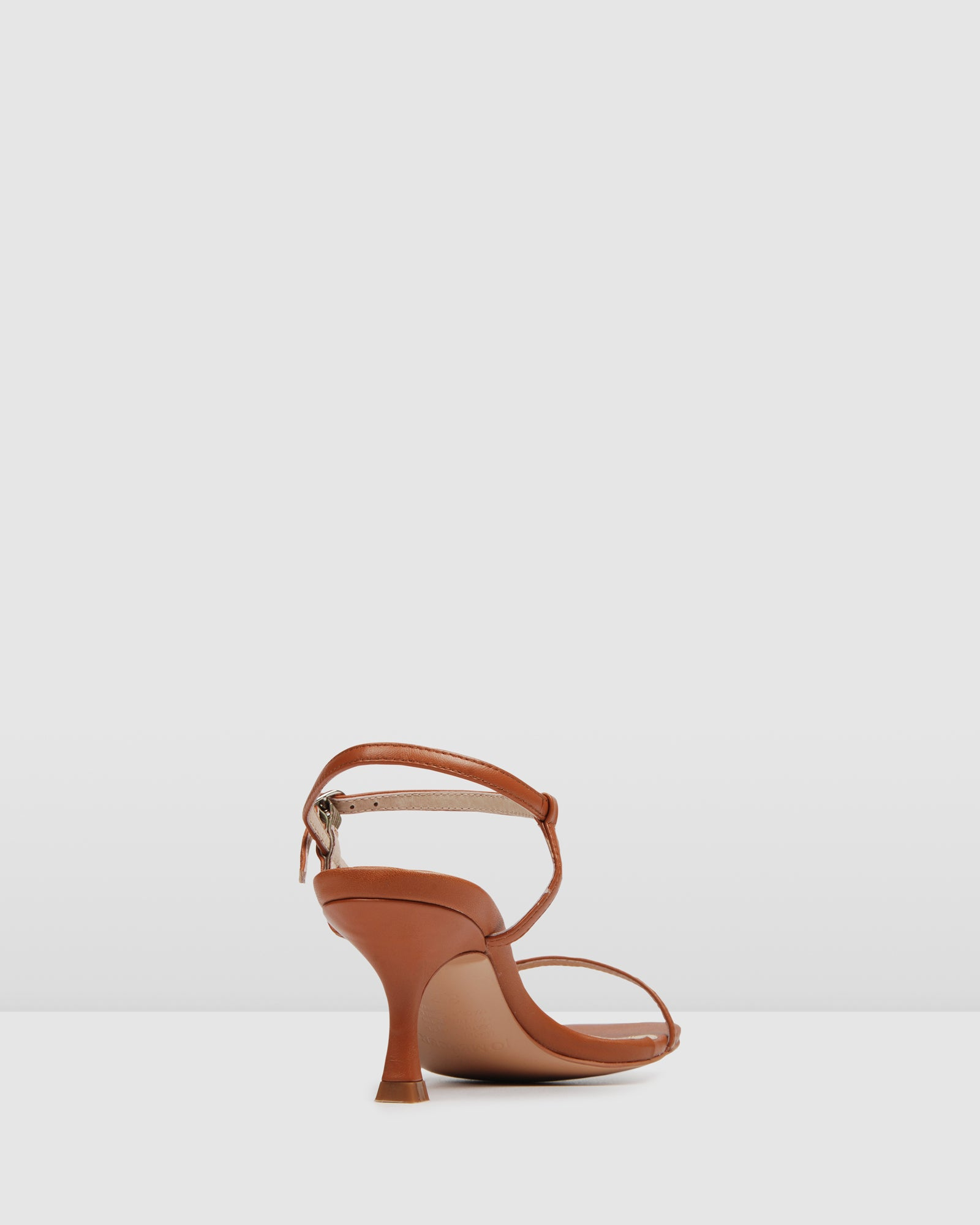 BIRDY MID HEEL SANDALS TAN LEATHER