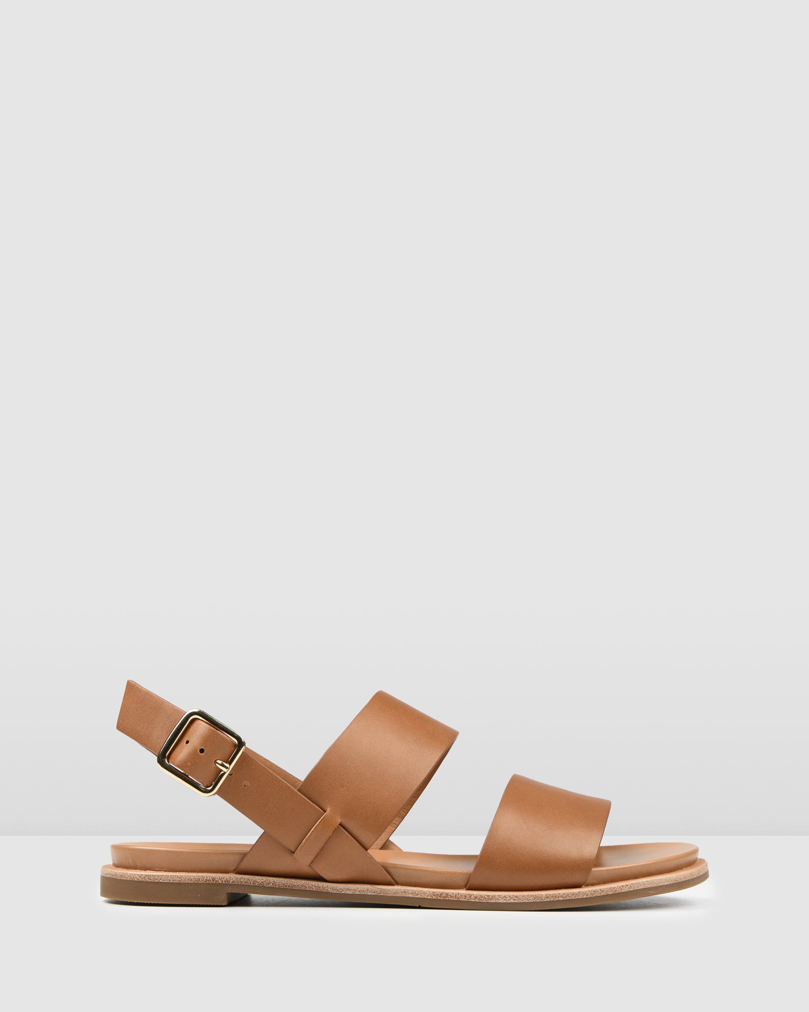 BRYDIE FLAT SANDALS TAN LEATHER