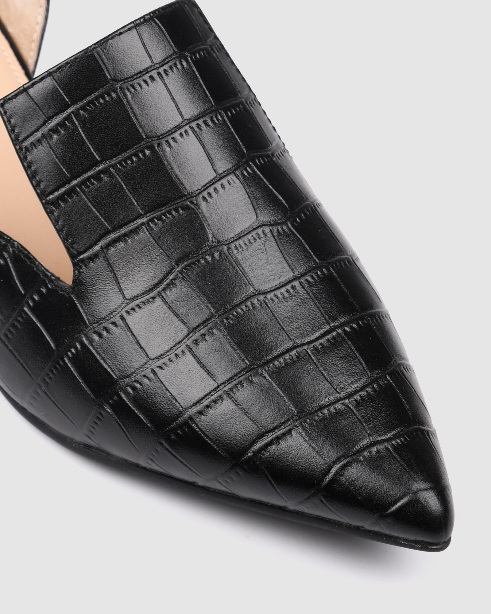 CAMI DRESS FLATS BLACK CROC