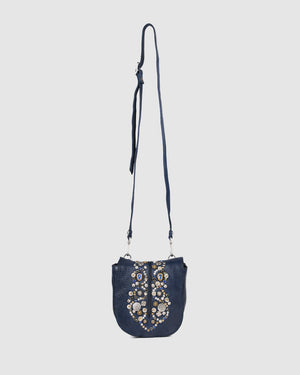 CAMPOMAGGI BELLA MEZZANOTTE SMALL CROSS BODY BAG INDIGO LEATHER
