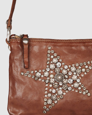 CAMPOMAGGI JOPLIN CROSS BODY BAG COGNAC LEATHER