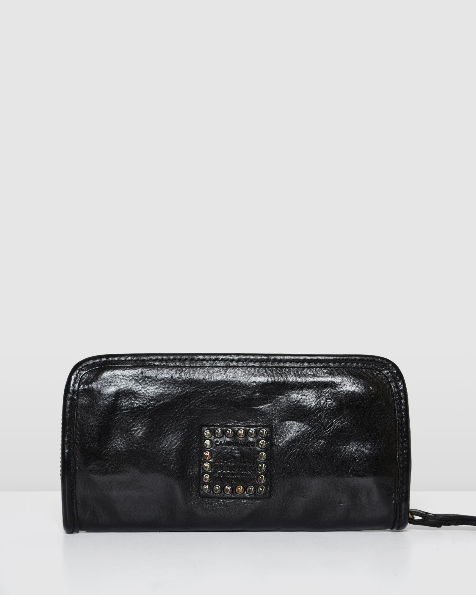 CAMPOMAGGI OCTAVIA WALLET BLACK LEATHER