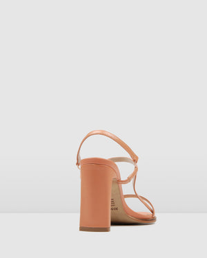 CAPRI HIGH HEEL SANDALS BLUSH LEATHER
