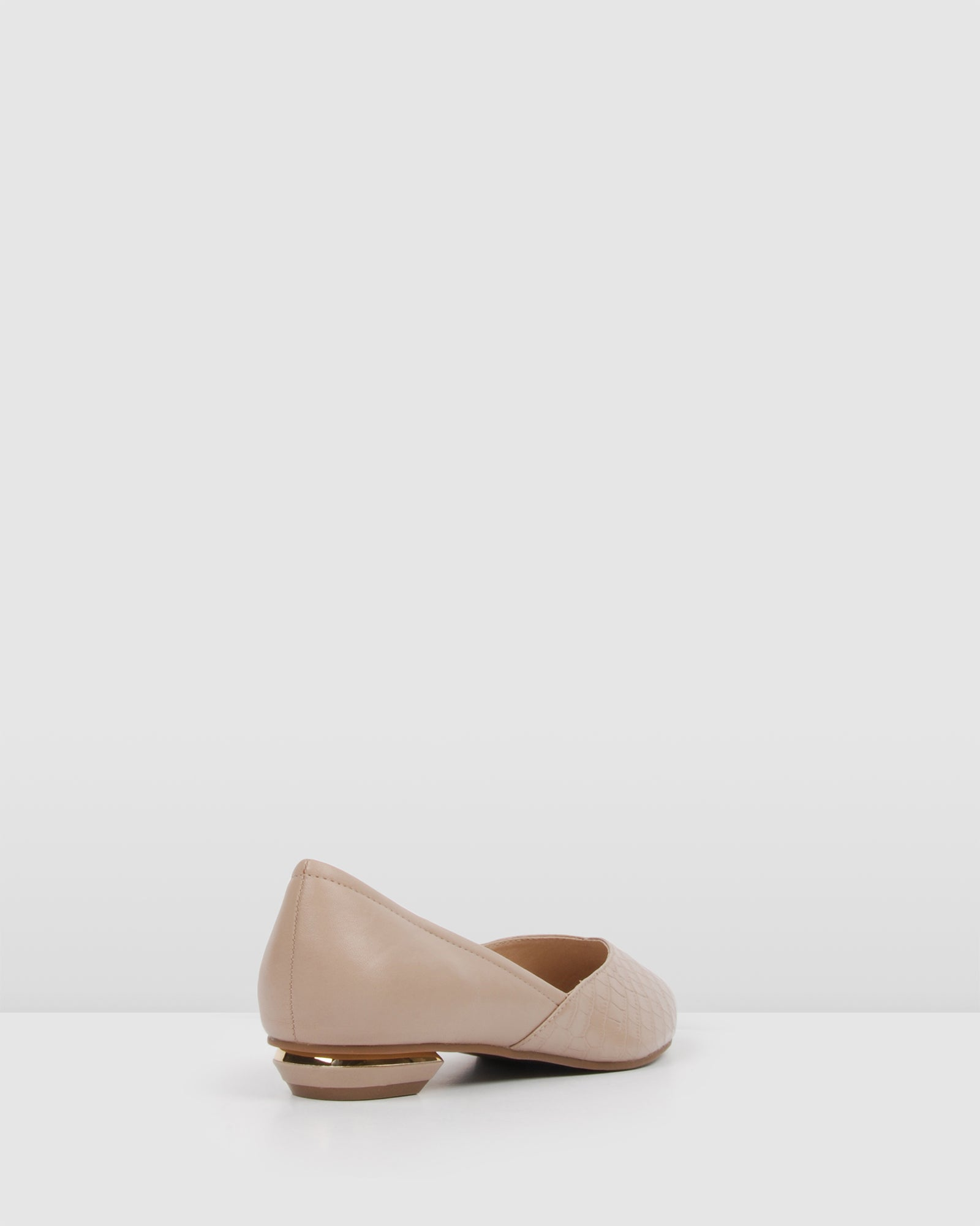 CARLISLE DRESS FLATS BLUSH LEATHER
