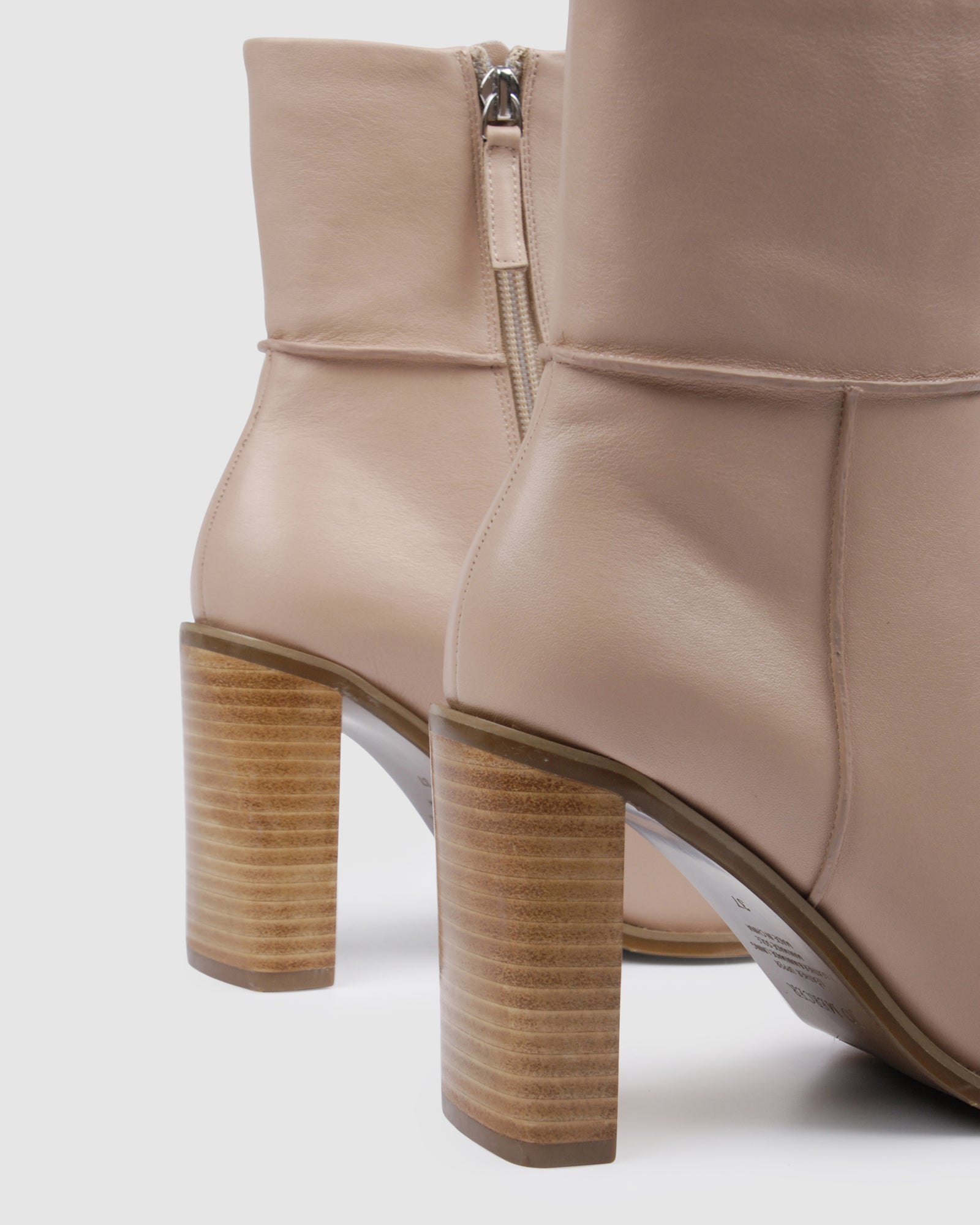 CHANCE HIGH ANKLE BOOTS BEIGE LEATHER