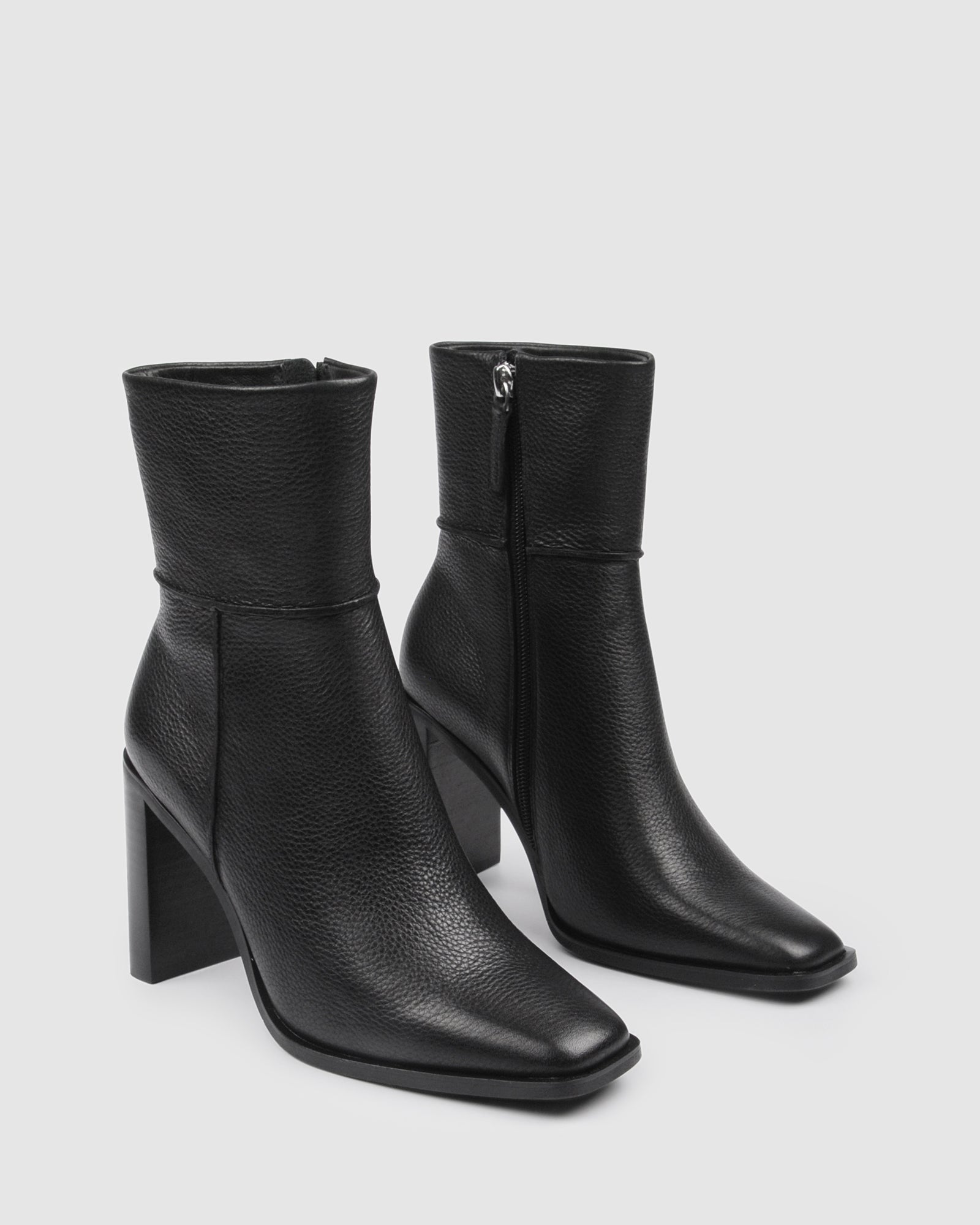 CHANCE HIGH ANKLE BOOTS BLACK LEATHER