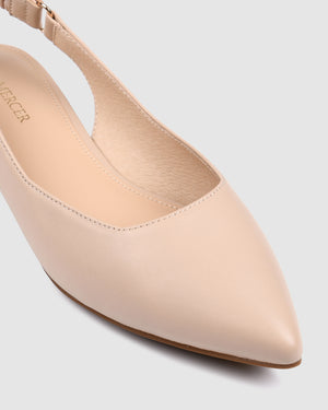 CIRCA DRESS FLATS BEIGE LEATHER