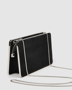 CLARA CLUTCH BLACK SUEDE