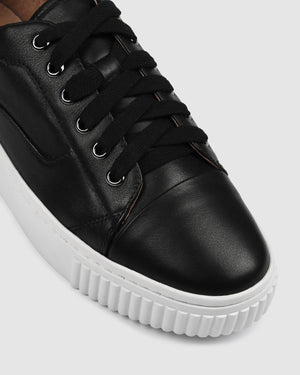 CLAREMONT SNEAKERS BLACK LEATHER
