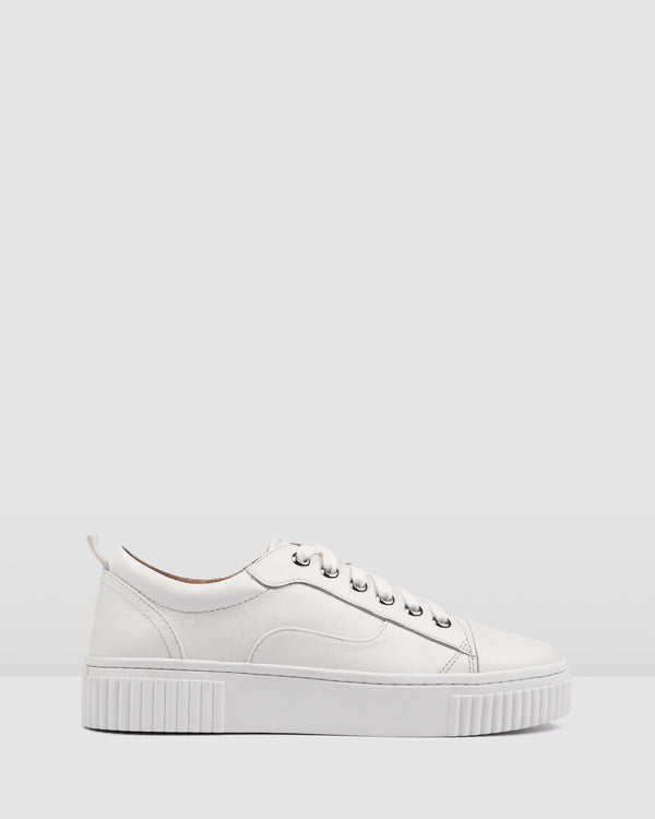 CLAREMONT SNEAKERS WHITE LEATHER