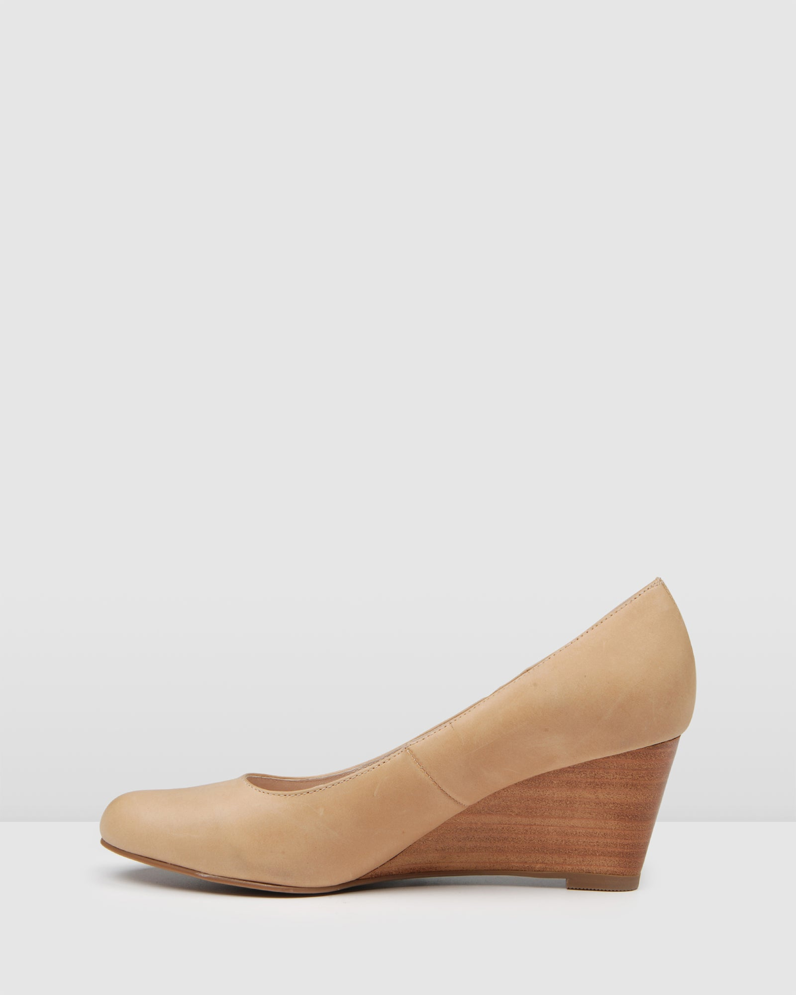 DASHING MID HEEL WEDGES NATURAL LEATHER