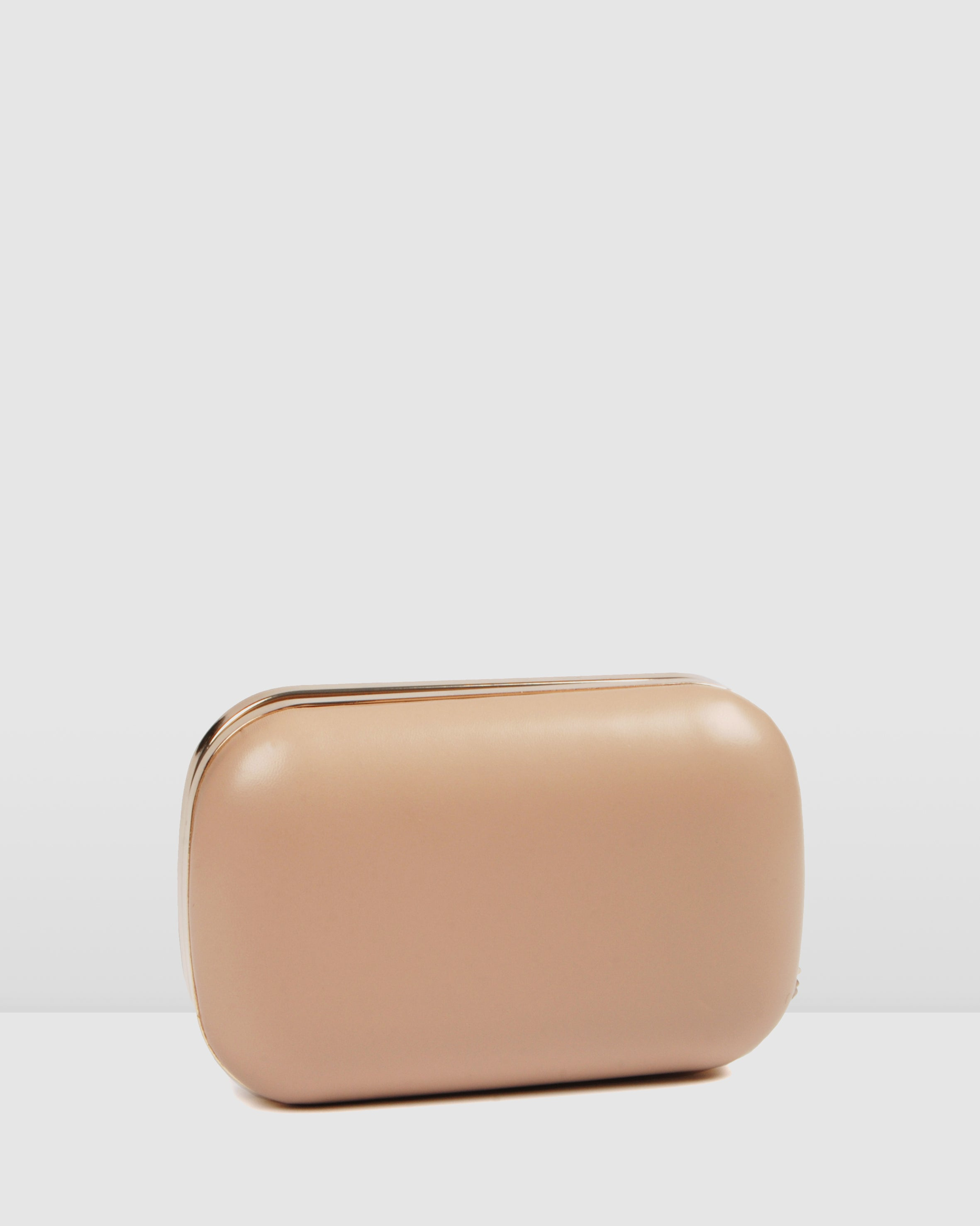 DAZZLE CLUTCH BEIGE LEATHER