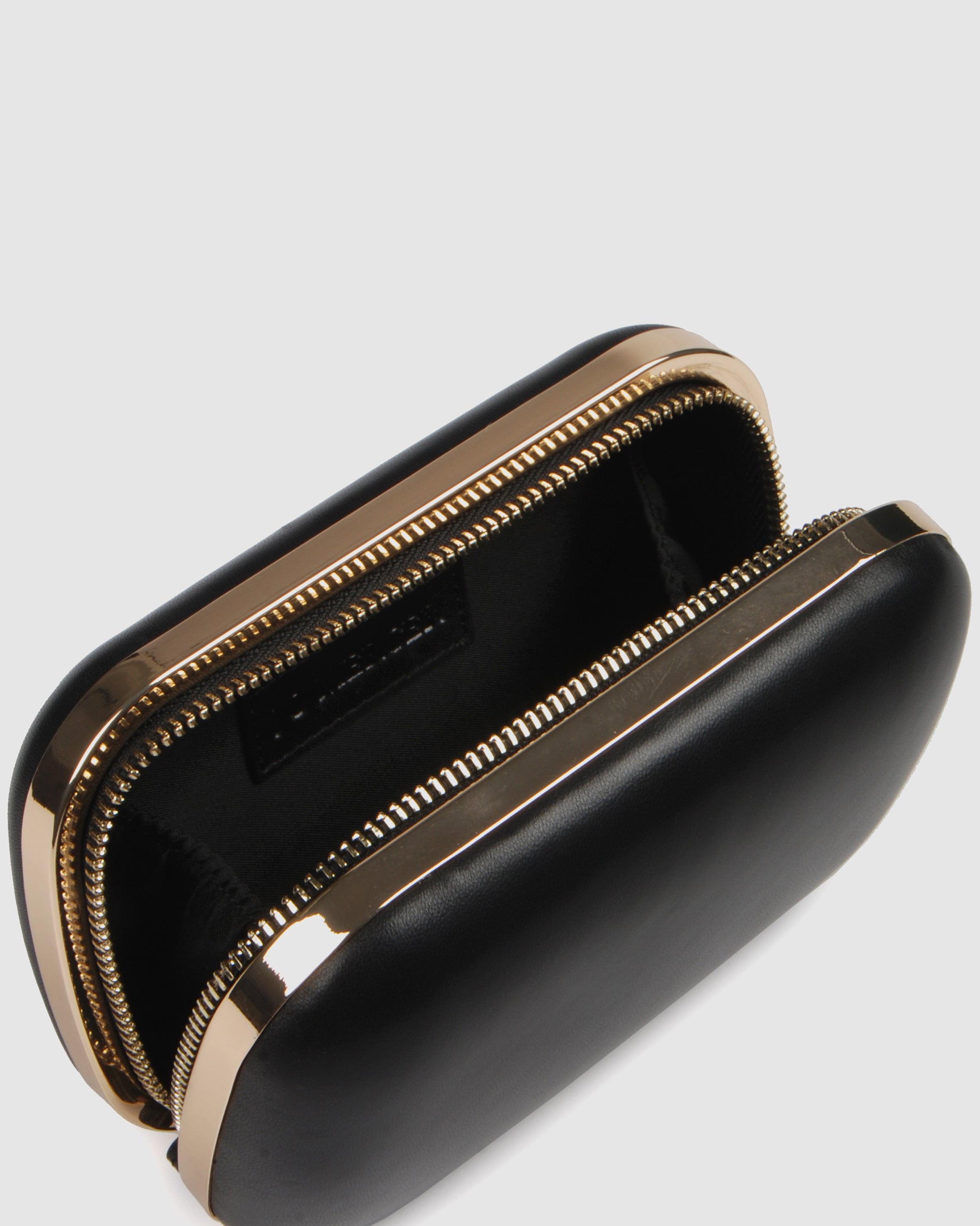 DAZZLE CLUTCH BLACK LEATHER