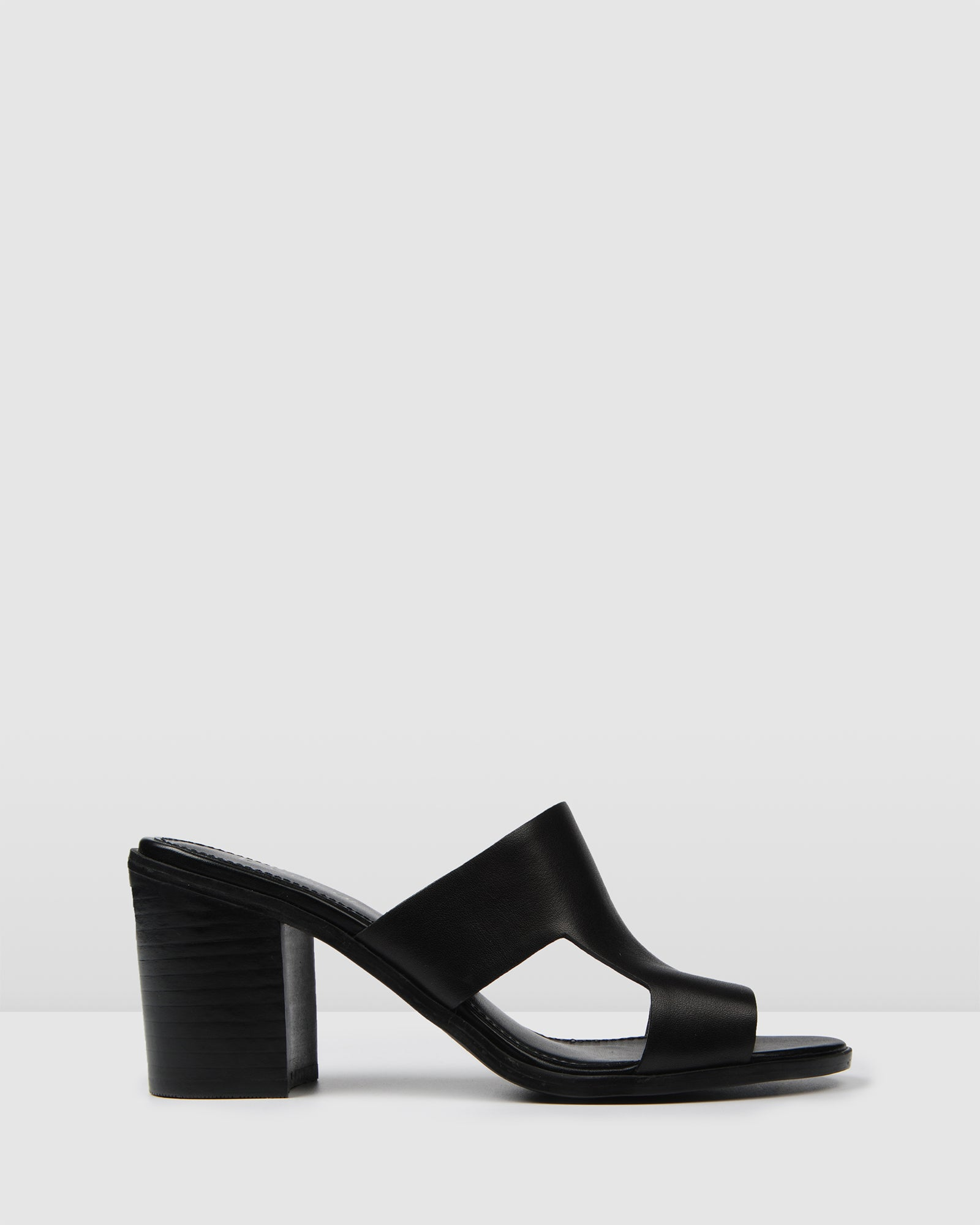 DELILAH MID SANDALS BLACK LEATHER BLACK LEATHER