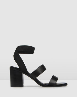 DREW MID SANDALS BLACK LEATHER BLACK LEATHER