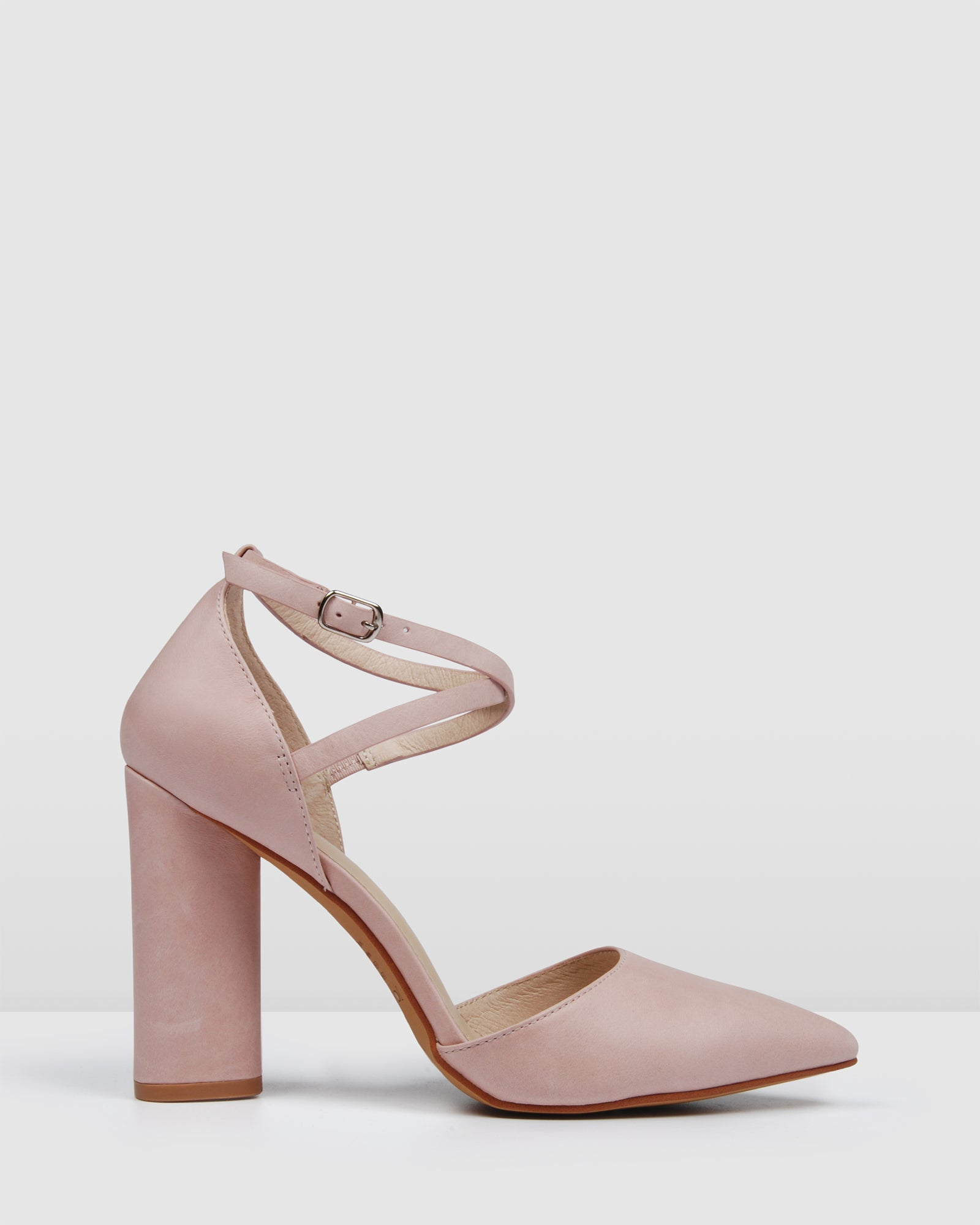 EASTBOUND HIGH HEELS LIGHT PINK LEATHER