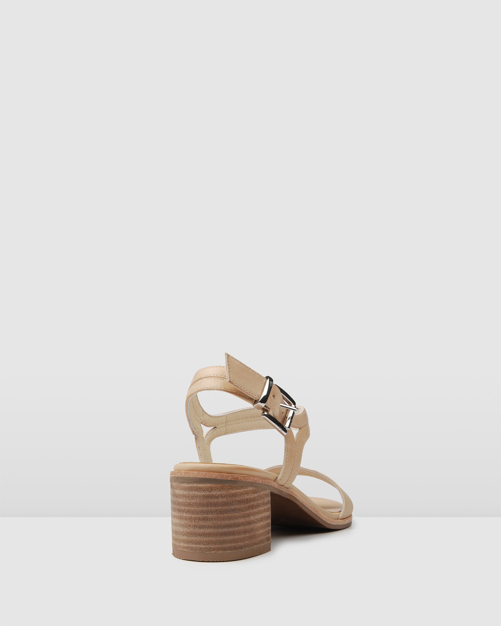 ELSIE LOW SANDALS NATURAL LEATHER NATURAL LEATHER